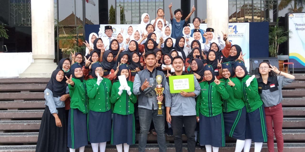 Juara 2 Lomba baris antar SMA sederajat tingkat DIY yang diselenggarakan Universitas Atmajaya