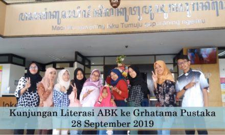 Kunjungan ABK SMKN 6 Yogyakarta Ke Grhatama Pustaka dalam kegiatan Gerakan Literasi Sekolah (GLS)